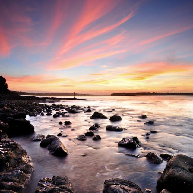 """""""Crookhaven Sunset"""" stock image"""