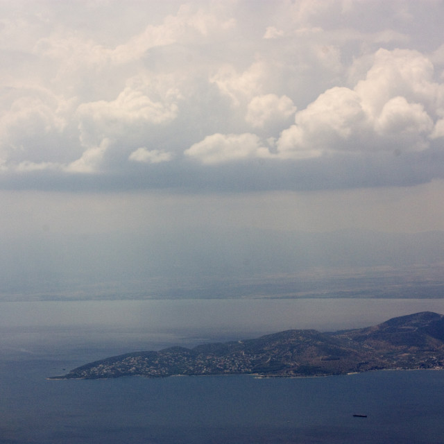 """""""View of Volos, Greece"""" stock image"""