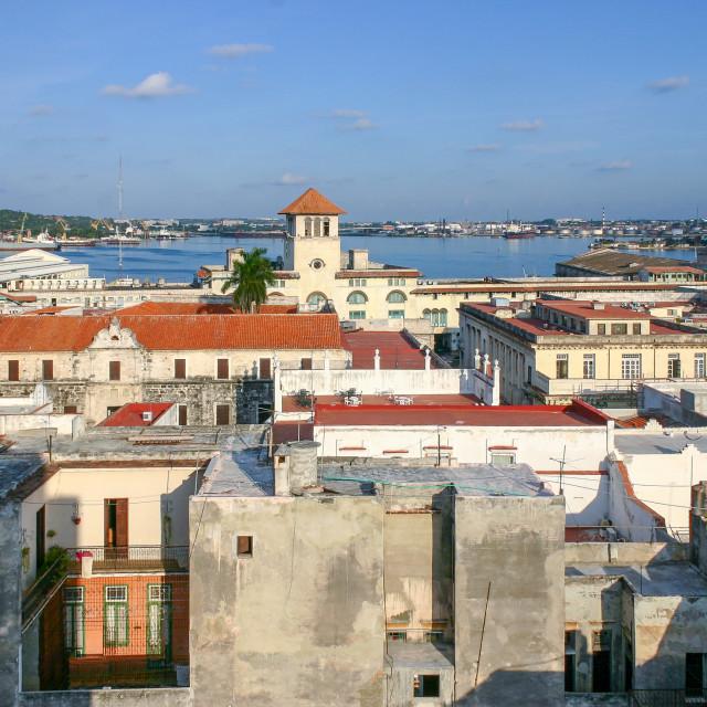"""""""Cityscape view of Plaza de San Farancisco de Asis, Havana, Cuba"""" stock image"""