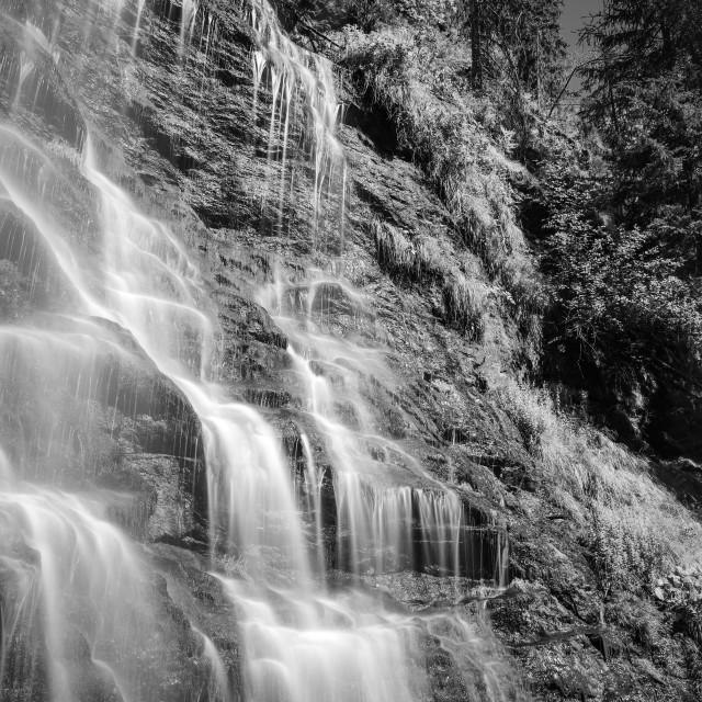 """""""Waterfall B&W"""" stock image"""