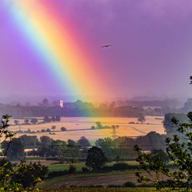 """Rainbow Landscape"" stock image"
