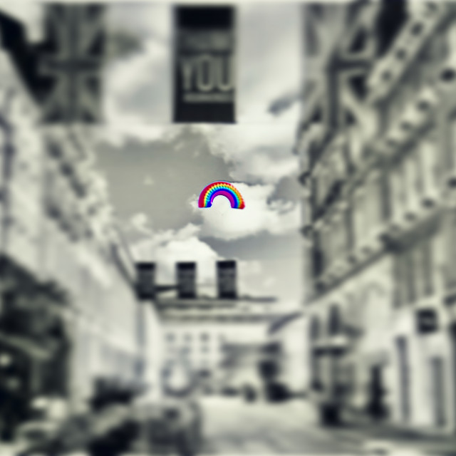 """Colour Splash Rainbow Sky"" stock image"