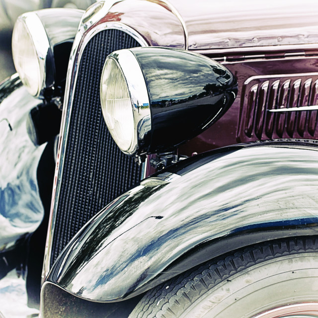"""""""Antique BMW 315 car front-lateral view detail"""" stock image"""
