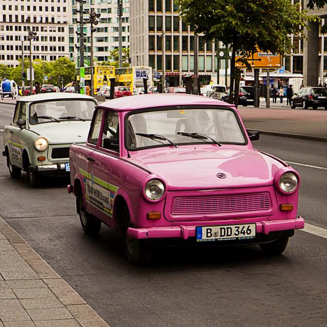 """Vintage Trabant cars"" stock image"