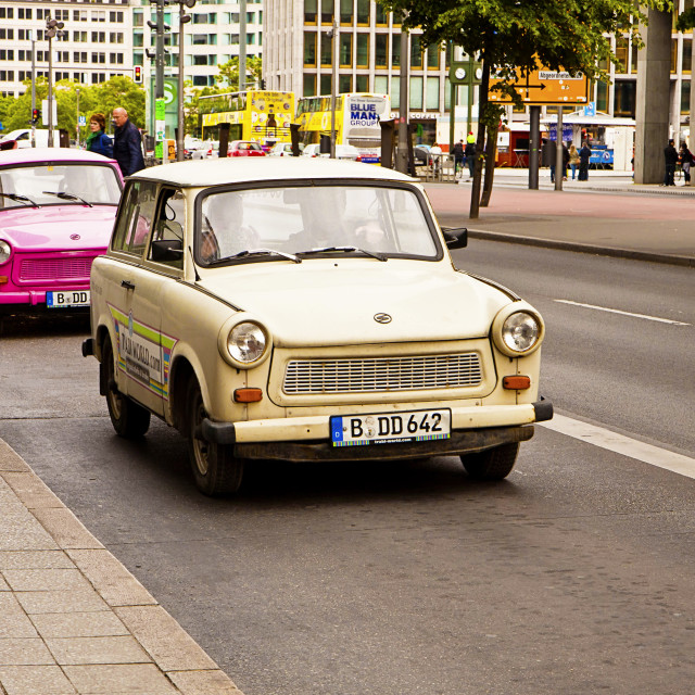 """Berlin - Vintage Trabant cars"" stock image"