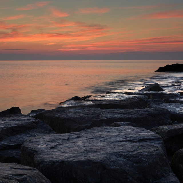 """""""Sunrise over the Breakers"""" stock image"""