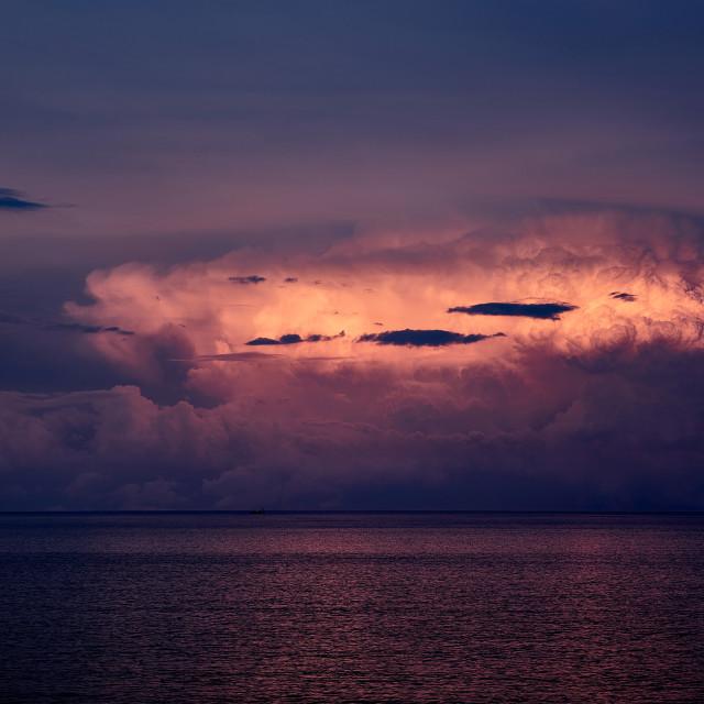 """Evening Storm"" stock image"