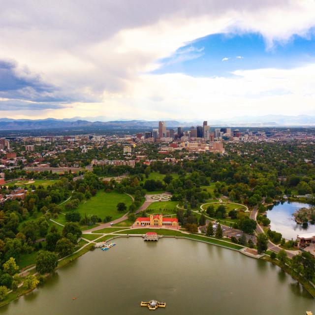 """Denver City Park"" stock image"