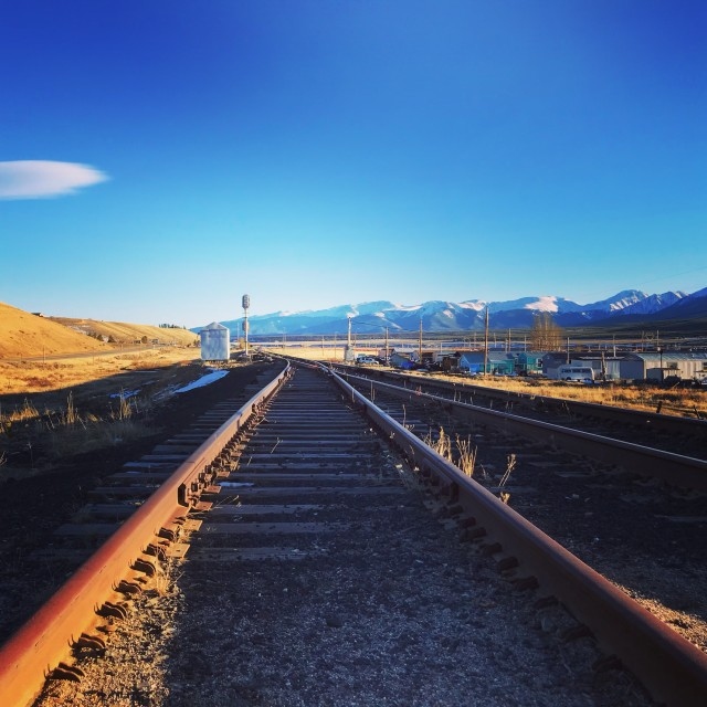 """Tracks to the Sky"" stock image"