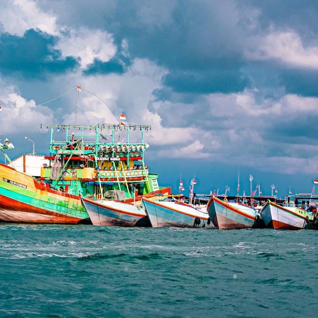 """""""Bali Boats"""" stock image"""