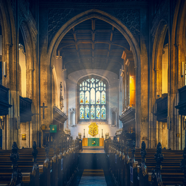 """Great St Mary's Church, Cambridge UK."" stock image"