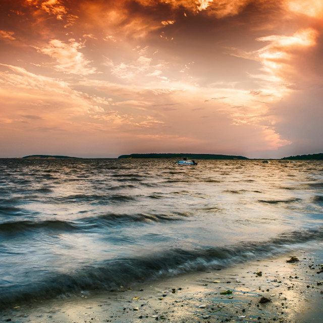 """""""Bay Waters"""" stock image"""
