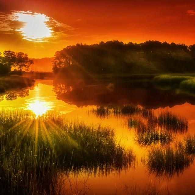 """Sunrise at Duck Creek"" stock image"