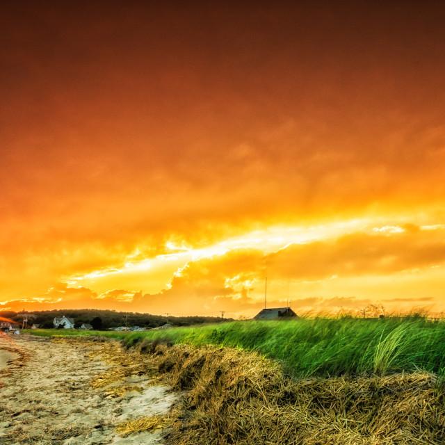 """Sunset At Mayo Beach"" stock image"