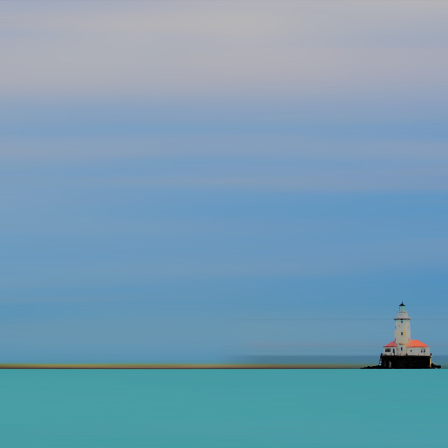 """Chicago Light House"" stock image"
