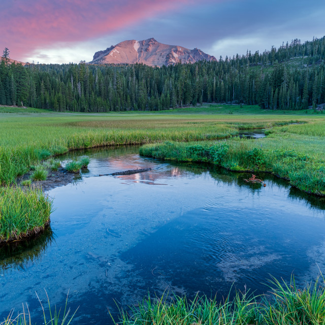"""""""Dawn Over Kings Creek With Reflection"""" stock image"""