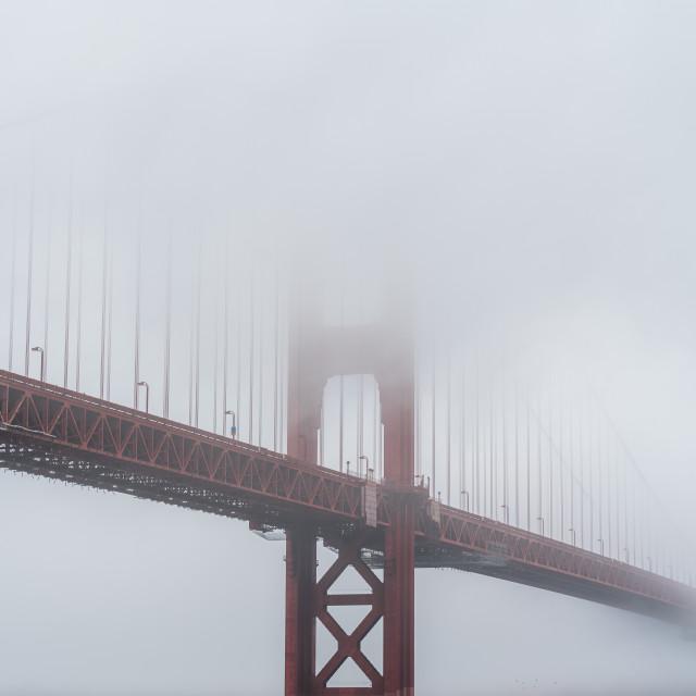 """Moody Golden Gate"" stock image"