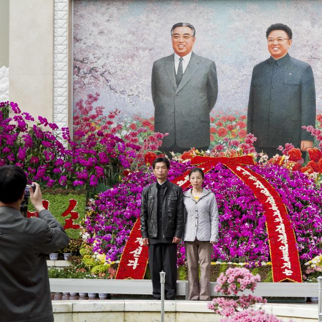 """Pyongyang Flower Exhibition"" stock image"
