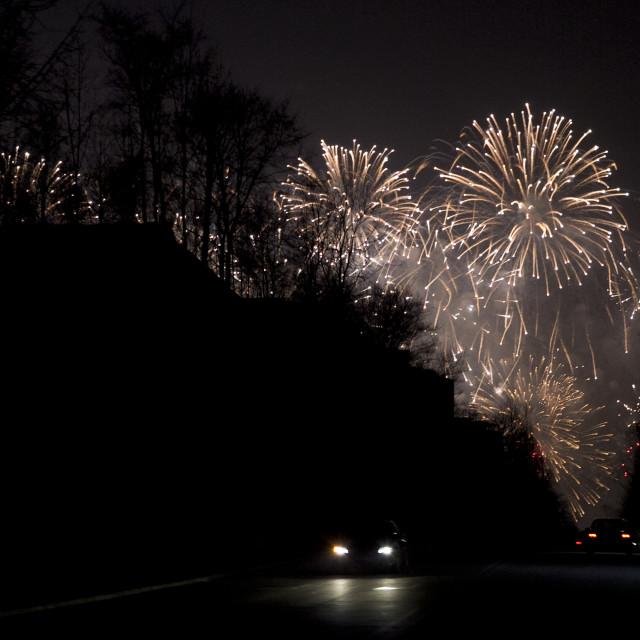 """Pyongyang Fireworks"" stock image"
