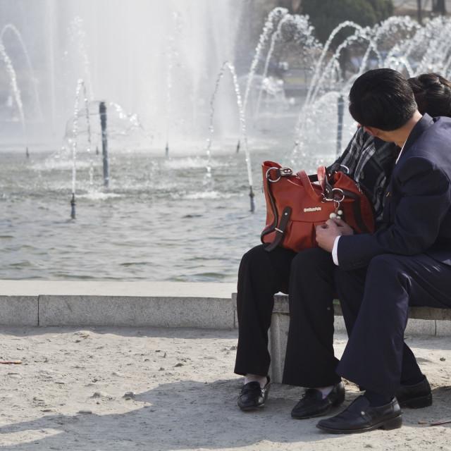 """North Korean Love"" stock image"