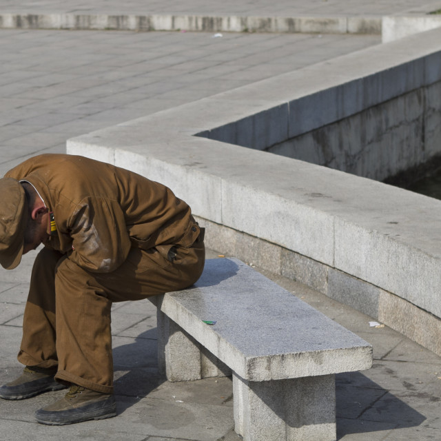 """""""Daily Life in Pyongyang"""" stock image"""