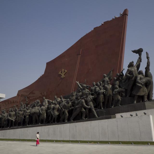 """Mansudae Hill Grand Monument"" stock image"