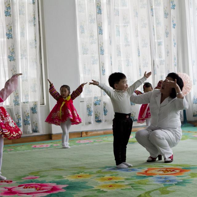 """Pyongyang Preschool"" stock image"