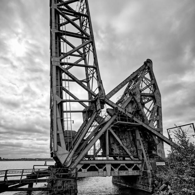 """""""Old Trainbridge"""" stock image"""
