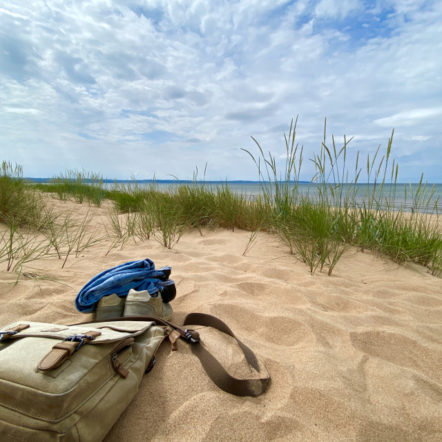 """""""Pause in the Sand Dunes"""" stock image"""