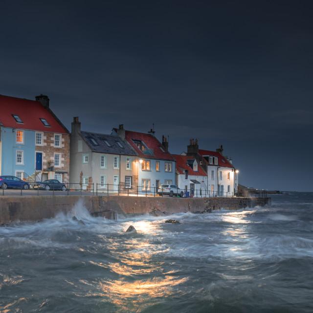 """Stormy St Monans"" stock image"