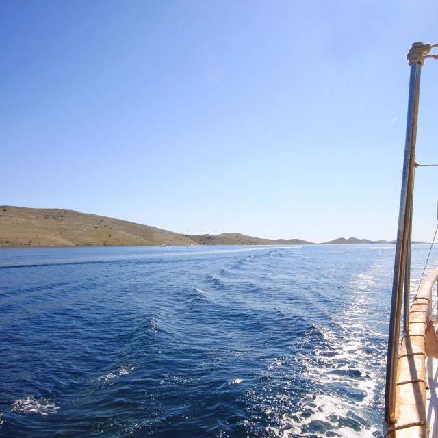 """Cruising to Kornati archipelago"" stock image"
