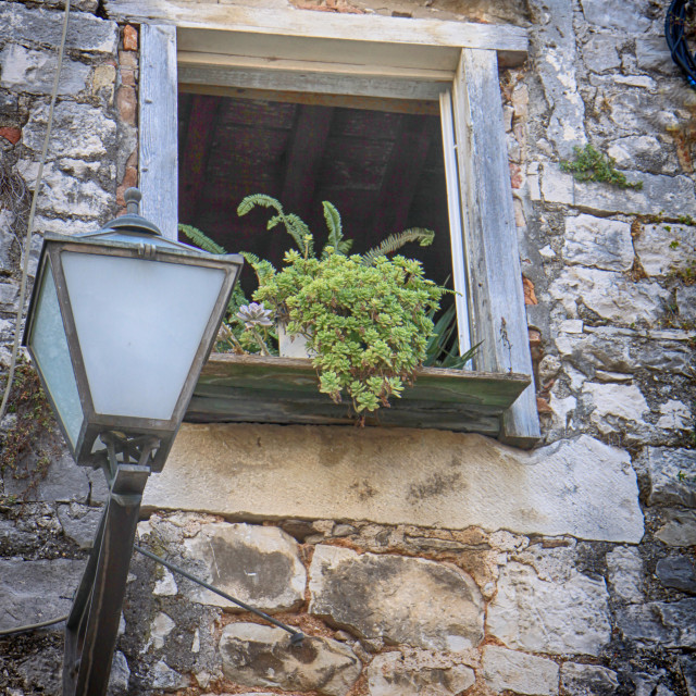 """Old Dalmatian house"" stock image"