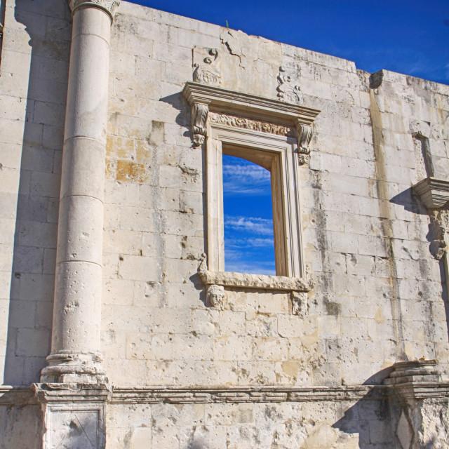"""Roman ruins in Dalmatia"" stock image"