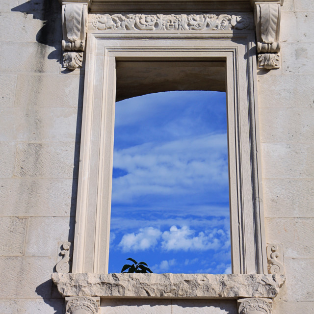 """Ancient Roman ruins in Zadar, Croatia."" stock image"