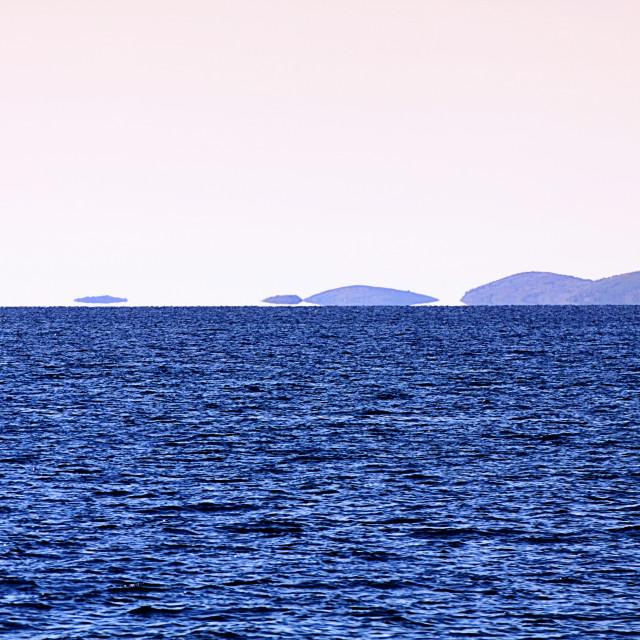 """Seascape with fata morgana mirage"" stock image"