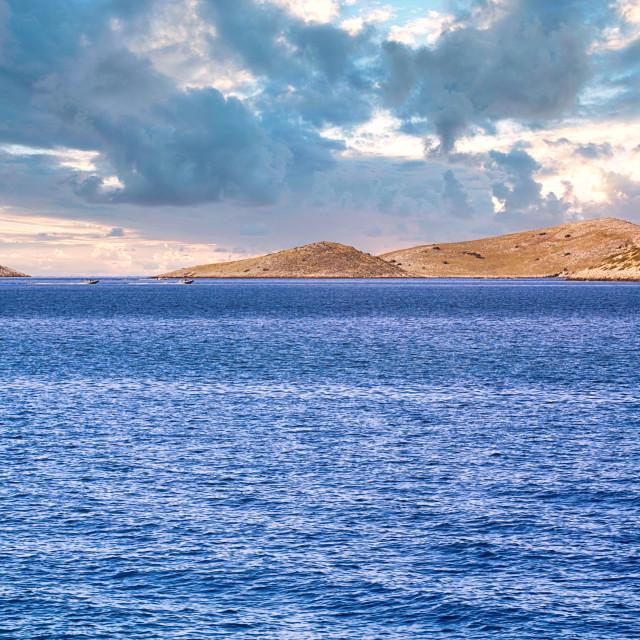 """Panorama of Kornati archipelago"" stock image"