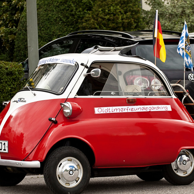 """""""BMW Isetta 300 vintage microcar produced in years (1956–62)"""" stock image"""