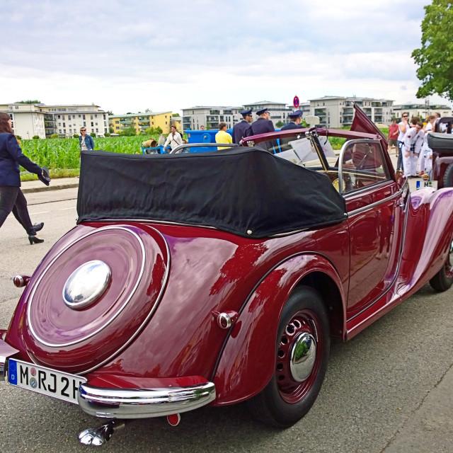 """""""Old IFA 2 door cabrio"""" stock image"""