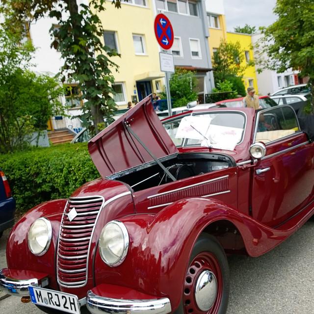 """""""Old IFA 2 door cabrio, produced in DDr"""" stock image"""