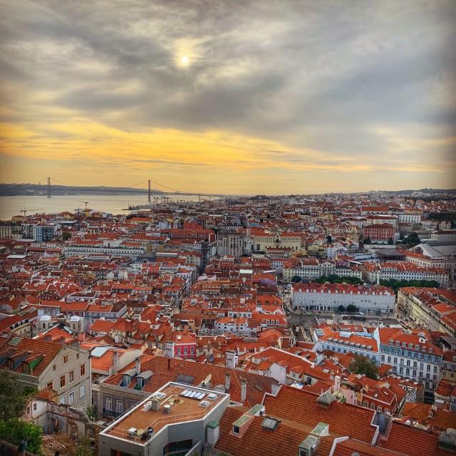 """Lisbon Sunset"" stock image"