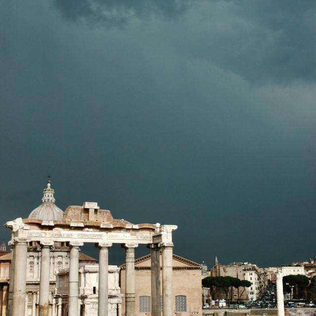 """Roman Forum Storm"" stock image"