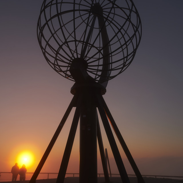 """The Globe in the Sunset"" stock image"