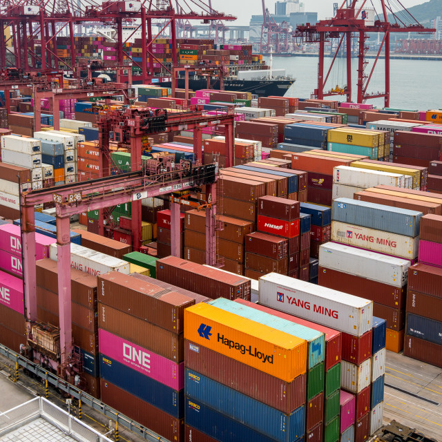 """HK Seaport"" stock image"