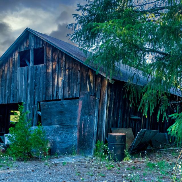 """Moody Barn"" stock image"