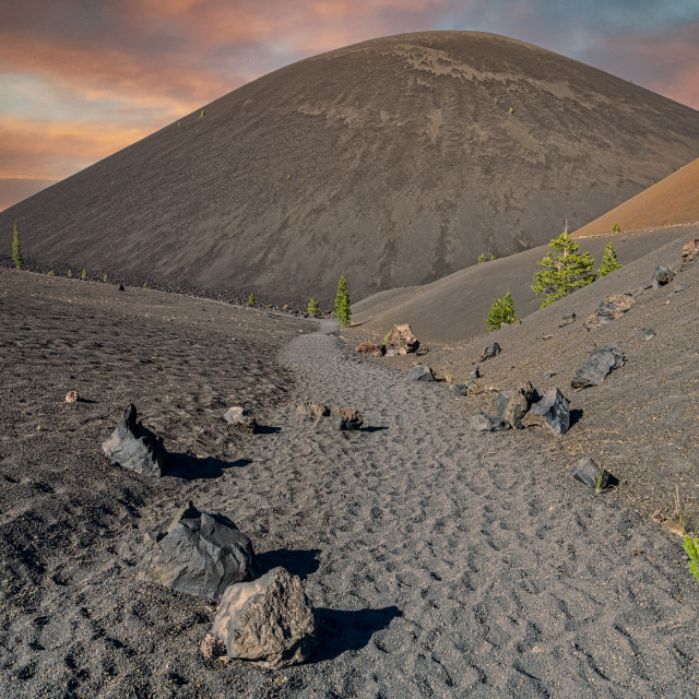 """""""Path to Cinder Cone"""" stock image"""