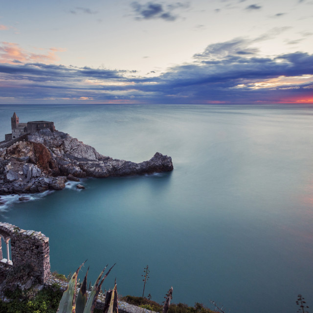 """Portovenere sunset"" stock image"