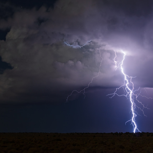 """Lightning bolt from a storm"" stock image"