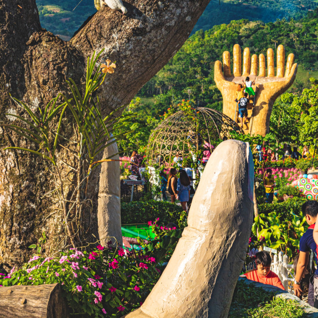 """The Open Hands of Sirao Garden In The Little Amsterdam of Cebu - Philippines, Asia"" stock image"