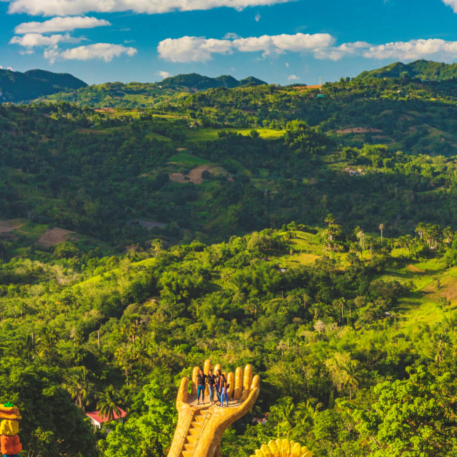 """The Jungle Forests of Cebu Behind Sirao Gardens - Little Amsterdam Cebu, The Philippines, Asia."" stock image"