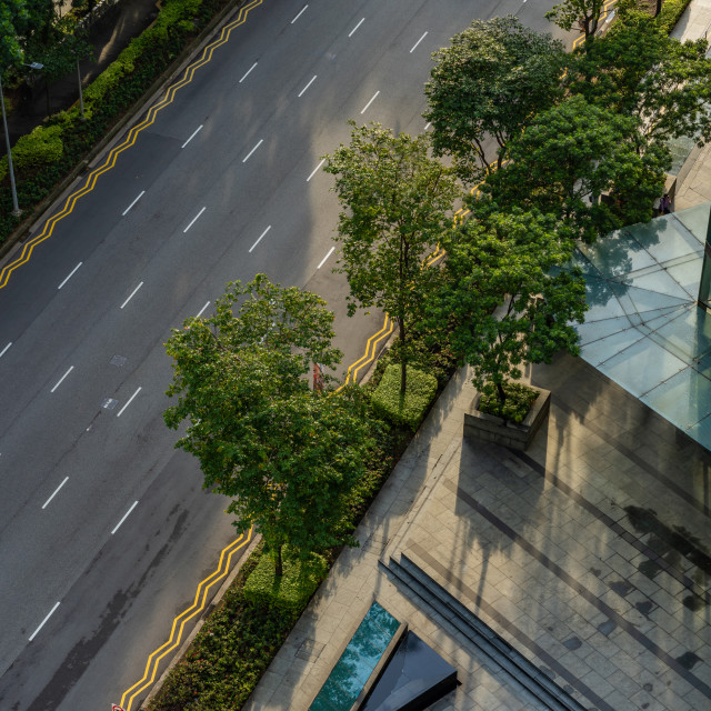 """""""Singapore street from above"""" stock image"""